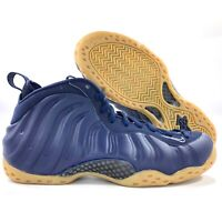 Nike Air Foamposite One Midnight Navy Blue Gum Sole 314996-405 Men's 8.5