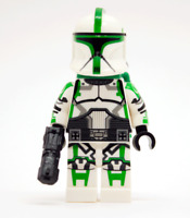 Lego Star Wars Custom P1 Green Trooper with Backpack & Blaster