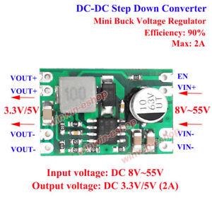 2A DC-DC Buck Step Down Converter Power Supply Module 48v 36v 24v 12v to 3.3v 5v