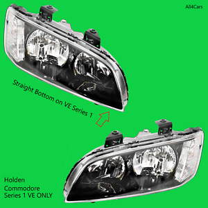 Black Headlights Right Left Side for Holden VE 1 Commodore Omega Berlina SS SV6