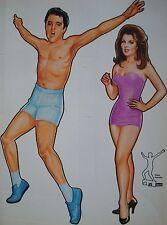 MAGAZINE DE JEUX 100% ELVIS PRESLEY-HABILLEZ ELVIS ! THE PAPERDOLL BOOK-USA 1982
