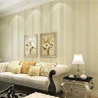 Modern Wallpaper Rolls Home Wall Decor Cover Stripes Textured Wallpapers Design