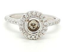 Diamond Engagement Ring Semi Mount 14k White Gold 0.30Ct G/VS2 Round 0.75Ct-1Ct