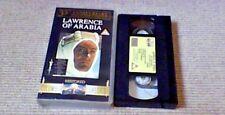 LAWRENCE OF ARABIA Restored 35th Anniversary UK PAL VHS VIDEO 1996 David Lean