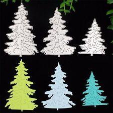 3 X Christmas Tree Cutting Dies Stencils DIY Scrapbooking Album Diary HandCrafts
