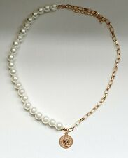 Half Pearl Half Gold Chain Coin Necklace Other Bloggers Stories Mango
