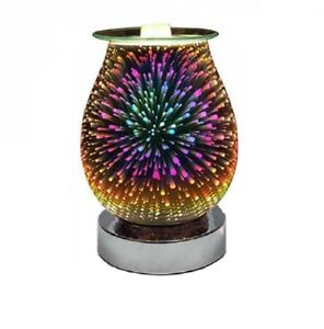 Stunning 3D Fireworks Effects Touch Aroma Lamp Fragrance Wax Melter Oil Burner