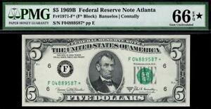 1969b* $5 Atlanta STAR Note FRN • PMG 66 EPQ* • Fr.1971-E* --Star Designation--