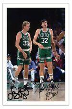 Larry Bird & Kevin McHALE Boston Celtics autograph signed photo print Basket