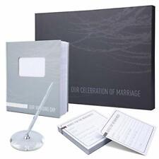 """Wedding Guest Book - Modern & Elegant Wedding Guest Book and Pen Set - 11"""" x 10"""""""