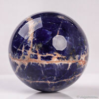 820g 88mm Large Natural Blue Sodalite Quartz Crystal Sphere Healing Ball Chakra