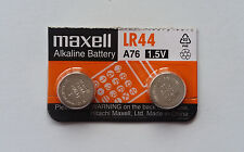 2x Maxell A76/LR44 1.5v Alkaline Batteries for Calculators etc- Post from MELB