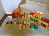 Fisher Price Little People Town SET Play Family Village 997 BJ Fire Mail truck