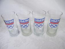 Vintage Set of 4 USA '88 Olympic Glasses