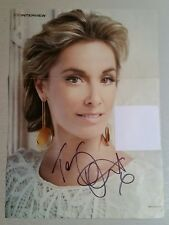 Autograph - Tamzin Outhwaite - Live ink on magazine page