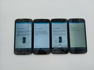 Lot of 4 - Motorola Moto E5 Go XT1921-8 16GB Black (Verizon Prepaid) Check IMEI