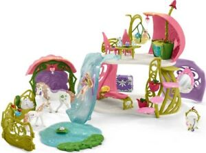 Schleich Glittering Flower Fairy House With Unicorns 42445 - Playset - New