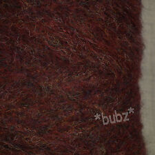 SUPER SOFT MOHAIR BLEND 4 PLY YARN OXBLOOD MELANGE 500g CONE WOOL BROWN HEATHER