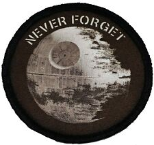 Never Forget Death Star Star Wars Morale Patch Tactical Military USA Army Flag