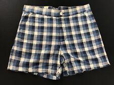 WeSC | Indigo (Blue)/White Men's Checker Shorts Size 30