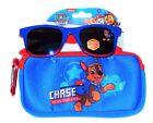 PAW PATROL CHASE Boys 100 UV Shatter Resistant Sunglasses  Soft Case Set NWT