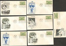 LOT of 7 RARE 1949 COMMEMORATIVE ENVELOPES FIRST DAY ISSUE PUERTO RICO GOVERNOR