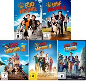 5 DVDs * FÜNF FREUNDE - FILM 1+2+3+4+5 IM SET # NEU OVP +