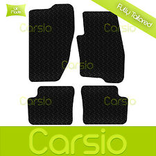 Black Fully Tailored Rubber Car Floor Mats For Fiat Grande Punto 2006 Onwards