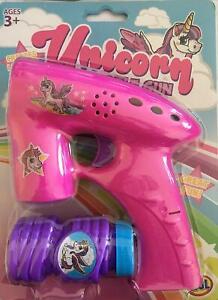 HGL Unicorn Bubble Gun Outdoor Fun Play Toy Party Birthday Gift