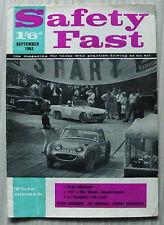 BMC SAFETY FAST Magazine September 1963 MG NEWS Austin Healey 100 Six