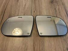 Jeep Compass OEM LH RH mirror glass SET with heating + blind spot zone 17->