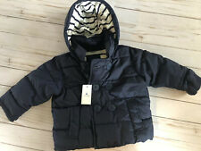Baby GAP Boys Navy Jacket Peacoat Puffer With Removable Hood 6-12 Months New!!