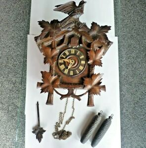 Antique Large Wall Hanging Cuckoo Clock