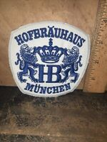 Vintage Hofbrauhaus Munchen -Beer Patch-Embroidered Large Size.