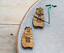 Needle Minder The set of 2 Bear Needle Keeper Magnetic needle magnet cute Cross