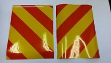 "Reflective magnetic vinyl hazard chevrons 2 x 8"" x 4"" trailer/bikes/cars"