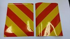 "Reflective magnetic vinyl hazard chevrons 2 x 8"" x 4"" trailer/bikes/cars"