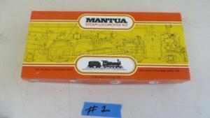 Vintage HO Mantua Undecorated 4-6-0 Steam Locomotive & Tender Kit 509 12 Wheeler