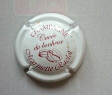 capsule champagne RACLOT MARINETTE cuvée du bonheur blanc et marron