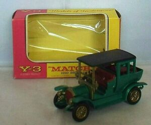 MATCHBOX Models of Yesteryear Y-3 1910 BENZ LIMOUSINE ISSUE 14 Dark Green Boxed