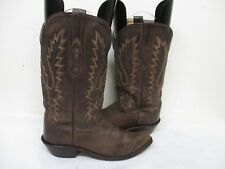 Old West Dark Brown Leather Snip Toe Cowboy Boots Size 6.5 B Style LF1534