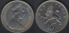 10 new pence Inghilterra 1973