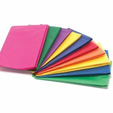 100 X Multi Coloured Tissue Paper Gift Wrap Wrapping Paper Sheets 20 X 30