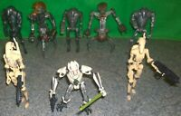 Star Wars ROTS General Grievous & Battle Droid Action Figure Lot - Used