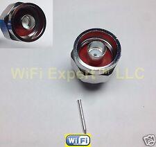 """1 x N male plug 11gHz Plus solder semi-rigid RG402 0.141"""" RF connector USA"""
