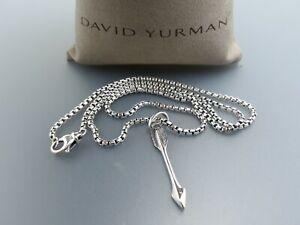 David Yurman Men's Arrow Pendant Necklace 22 in sterling silver 925