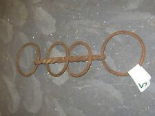 VINTAGE?PRIMITIVE RUSTIC IRON HORSE TWISTED BRIDLE BIT 4 RING GOOD F0R DECOR