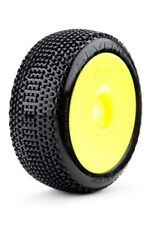 James Racing Revenger 1/8 Buggy Tire Mounted Glued Yellow Dish Rim Wheel Soft