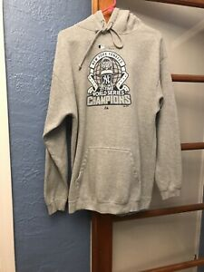 Collector's NY YANKEES 2009 World Series CHAMPIONS Hooded Sweatshirt Large