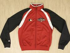 MLB All Star Game 2011 Red Baseball Jacket Men's Size M Zip Up Front Long Sleeve